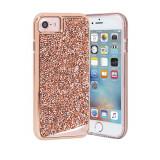 Husa Fashion dual layer Case-Mate Brilliance pentru Apple iPhone 7, Rose Gold, Case-Mate