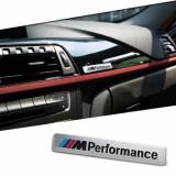 Stiker BMW M performance mperformanance 2 culori emblema auto aluminiu   adeziv