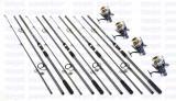 Set crap 4 lansete FINO CARP 3,6m cu 4 mulinete J3FR 10+1 rulmenti si baitrunner