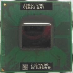 Procesor laptop Core 2 Duo T7700 SLAF7 4M Cache/2.4GHz/800/