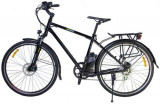 Bicicleta electrica Nova Vento Long Run L2803, Roti 28inch, 7 viteze, Viteza maxima 25 Km/h, Autonomie 50 Km (Negru)
