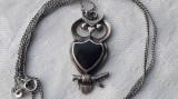 MEDALION argint BUFNITA cu ONIX vintage VECHI splendid SUPERB pe Lant argint