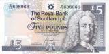 Bancnota Scotia ( Royal Bank ) 5 Pounds 2005 - P352d UNC