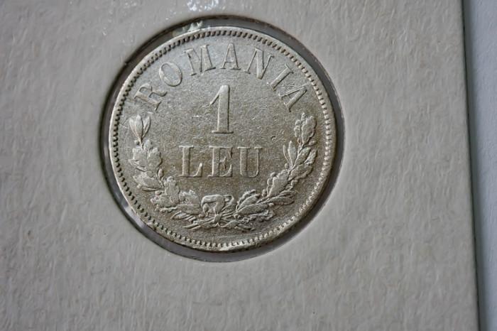 1 leu 1874 -argint foto mare