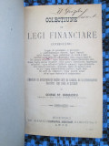 George St BADULESCU - COLECTIUNE DE LEGI FINANCIARE (1905 cu semnatura autorului