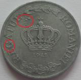 Moneda 5 LEI - ROMANIA, anul 1942  *cod 764  --- A.UNC + BULE SURPLUS ZINC!