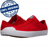 Pantofi sport Converse Chuck Taylor All Star II Ox pentru femei - tenisi panza, 36, 38 - 41, Rosu, Textil