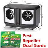 Aparat Anti Rozatoare,Insecte,Soareci, Pest Repeller Dual Sonic+Capcana Lipici, Anti-rozatoare