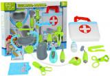 Set medical in cutie cu stetoscop si 18 accesorii