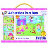 Set 4 puzzle-uri Zane (12, 16, 20 24 piese), Galt