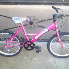 """Bora / Smart Pink / bicicleta copii 20"""" (7-12 ani), 6"""