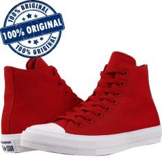 Pantofi sport Converse Chuck Taylor All Star II Hi pentru femei - tenisi panza, 35, 39, Rosu, Textil