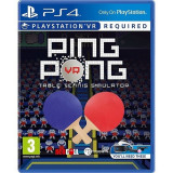 PING PONG - Table Tennis Simulator PLAYSTATION 4 VR  PS4 [Second hand] cad, Sporturi, 18+, Single player
