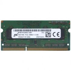 Memorie Sodimm MICRON 4Gb DDR3 1600Mhz PC3L-12800S, 1.35V, mt8ktf51264hz-1g6e1