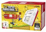 Nintendo 2DS rosu alb incl. New Super Mario Bros. 2