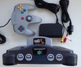 Consola retro de colectie Nintendo N64 complet impecabil caseta joc XENA, Nintendo 64