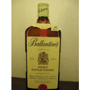 RARITATE  whisky, ballantines,  SPECIALL BOTTLED FOUR TUNIS AIR cl 75
