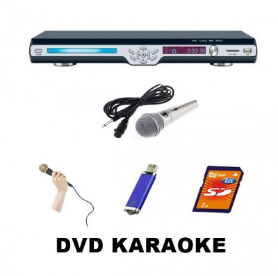DVD  PENTRU KARAOKE ,STICK USB/CARD, MICROFON BONUS,TELECOMANDA,AFISAJ LCD.NOU. foto