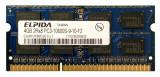 Memorie Laptop SODIMM Elpida 4GB DDR3 PC3-10600S 1333Mhz, 4 GB, 1333 mhz