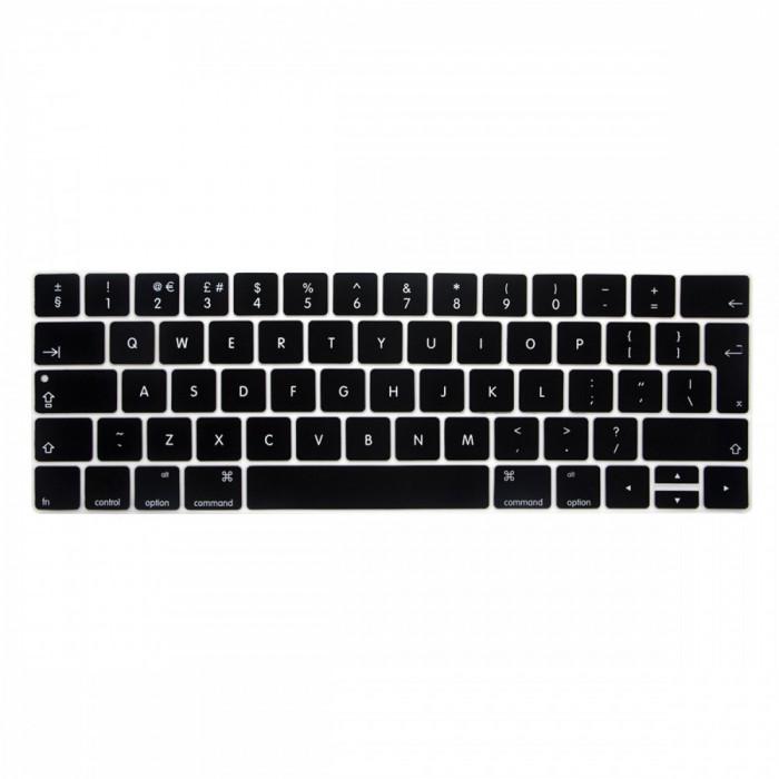 Husa protectie tastatura EU Macbook Pro 13 15 2016 2017 Touch Bar, negru
