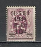 Belgia.1934 Stema-supr.  MB.33, Nestampilat