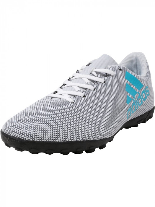 Adidas barbati X 17.4 Tf Footwear White / Energy Blue Clear Grey Ankle-High Soccer Shoe foto mare