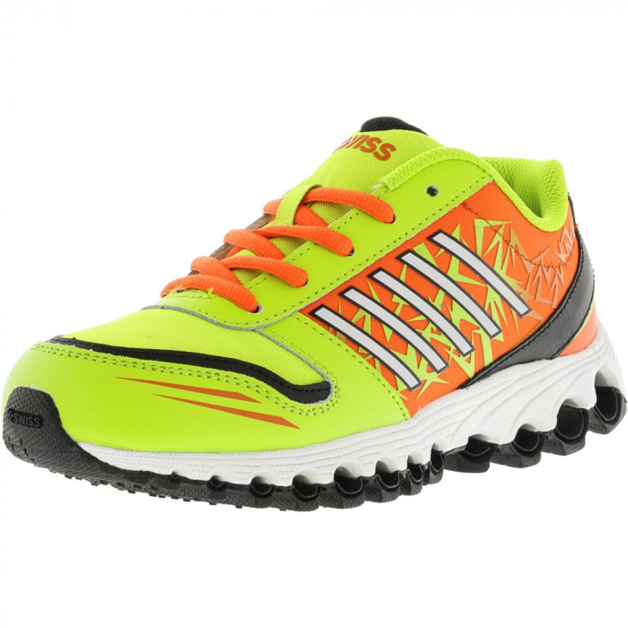 K-Swiss X-10 Low Lime Punch / Safety Orange Black Ankle-High Running Shoe foto mare