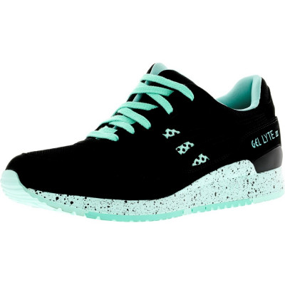 Asics barbati Gel-Lyte Iii Black / Green Speckled Ankle-High Leather Running Shoe foto