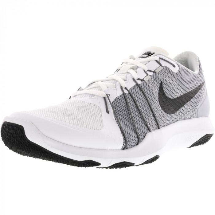 Nike barbati Flex Train Aver White / Black-Wolf Grey Ankle-High Training Shoes foto mare