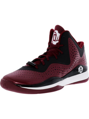 Adidas barbati D Rose 773 Iii Maroon / Black Footwear White High-Top Basketball Shoe foto