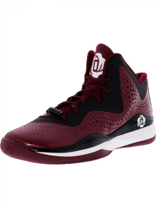 Adidas barbati D Rose 773 Iii Maroon / Black Footwear White High-Top Basketball Shoe foto mare