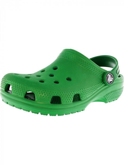 Crocs Classic Clog Kelly Green Flat Shoe foto mare