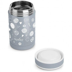 Termos Inox Mancare Solida 500 ml Gri, Nuvita