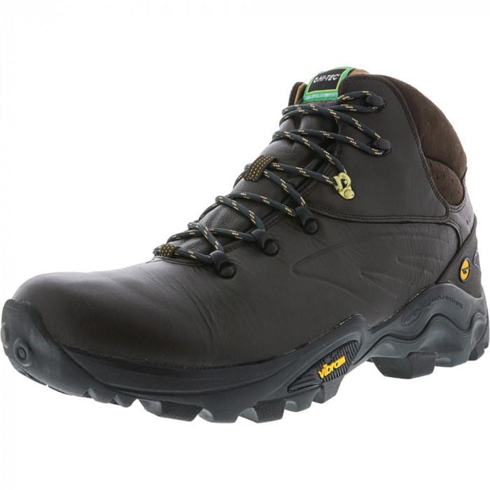 Hi-Tec barbati V-Lite Flash Hike Waterproof Chocolate / Core Gold High-Top Leather Hiking Boot foto mare