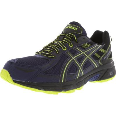 Asics barbati Gel-Venture 6 Indigo Blue / Black Energy Green Ankle-High Running Shoe foto