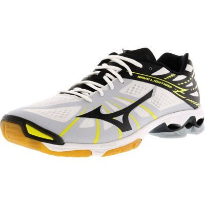 Mizuno barbati Wave Lightning Z White/Black/Yellow Ankle-High Running Shoe foto