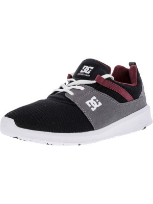 Dc barbati Heathrow Armor / Oxblood Ankle-High Fashion Sneaker foto