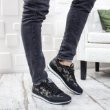 Pantofi sport barbati Midil negri cu camuflaj