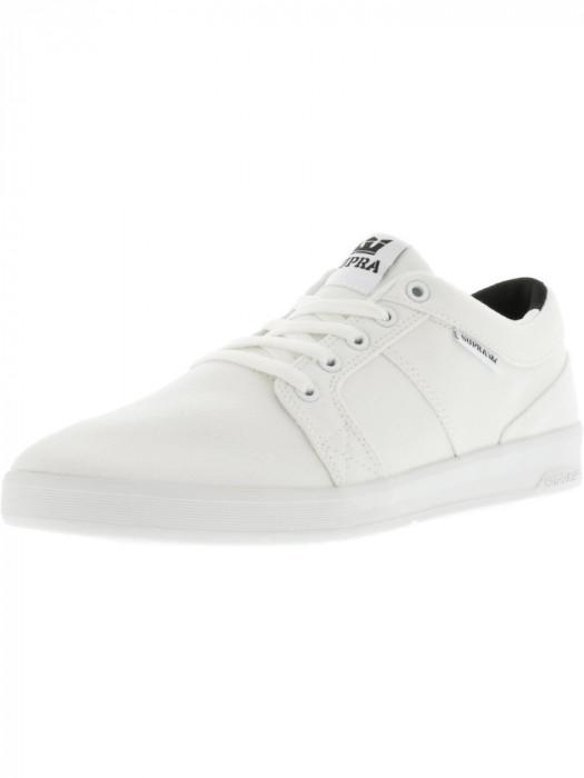 Supra barbati Ineto White / Canvas Ankle-High Fashion Sneaker foto mare