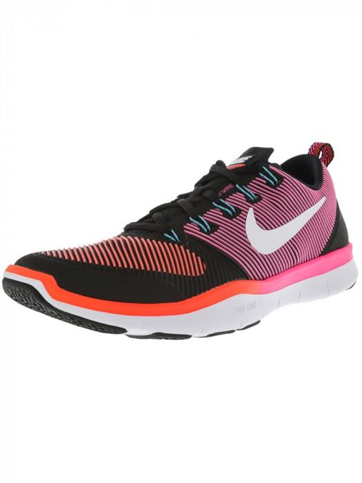 Nike barbati Free Train Versatility Black / White Total Crimson Hyper Pink Ankle-High Cross Trainer Shoe foto mare