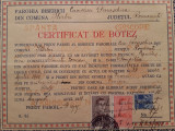 CERTIFICAT DE BOTEZ + CERTIFICAT DE CUNUNIE, 1912