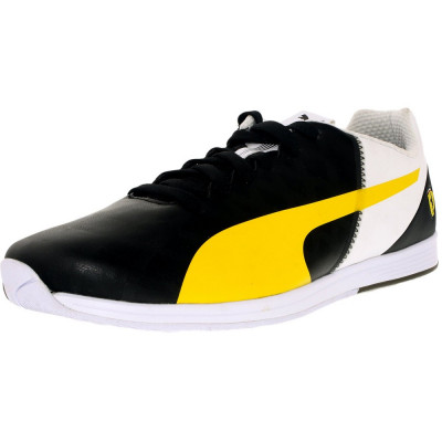 Puma barbati Evospeed 1.4 Sf Black-Vibrant Yellow-White Ankle-High Fashion Sneaker foto