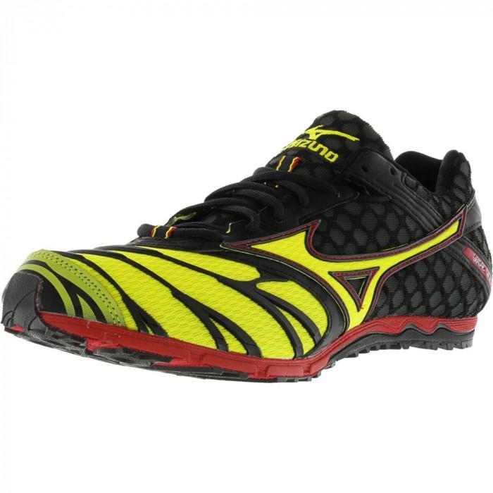 Mizuno barbati Wave Kizuna Black / Yellow Red Ankle-High Track Shoe foto mare