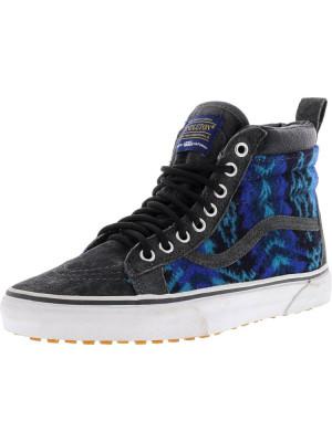 Vans Sk8-Hi Mte Pendleton / Tribal Asphalt Mid-Top Fabric Fashion Sneaker foto