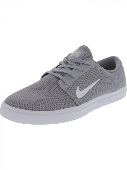 Nike barbati Sb Portmore Ultralight Wolf Grey / White Cool Ankle-High Skateboarding Shoe
