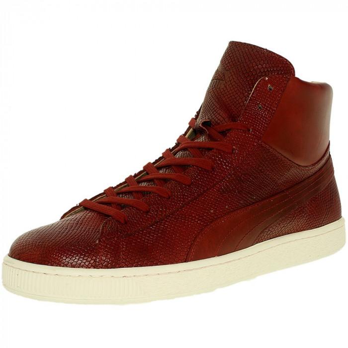 Puma barbati States Mid Mii Sun/Dried Tomato/Whisper White Ankle-High Leather Fashion Sneaker foto mare