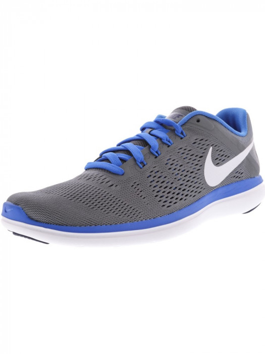 Nike barbati Flex 2016 Rn Cool Grey / White-Loyal Blue Ankle-High Running Shoe foto mare