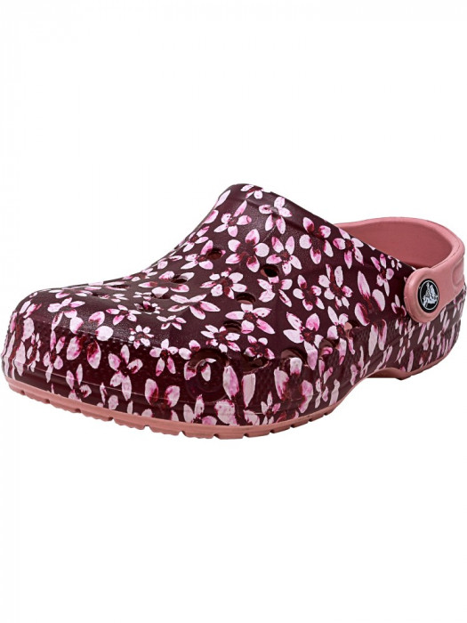Crocs Baya Graphic Clog Cashmere Rose Ankle-High Clogs foto mare