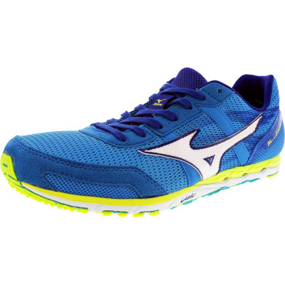 Mizuno barbati Wave Ekiden 10 Blue / White Yellow Ankle-High Running Shoe foto