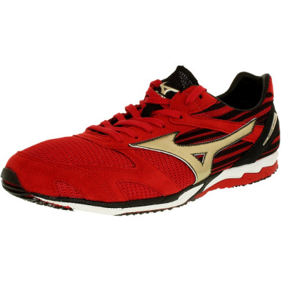 Mizuno barbati Wave Ekiden Si Red/Gold Ankle-High Running Shoe foto